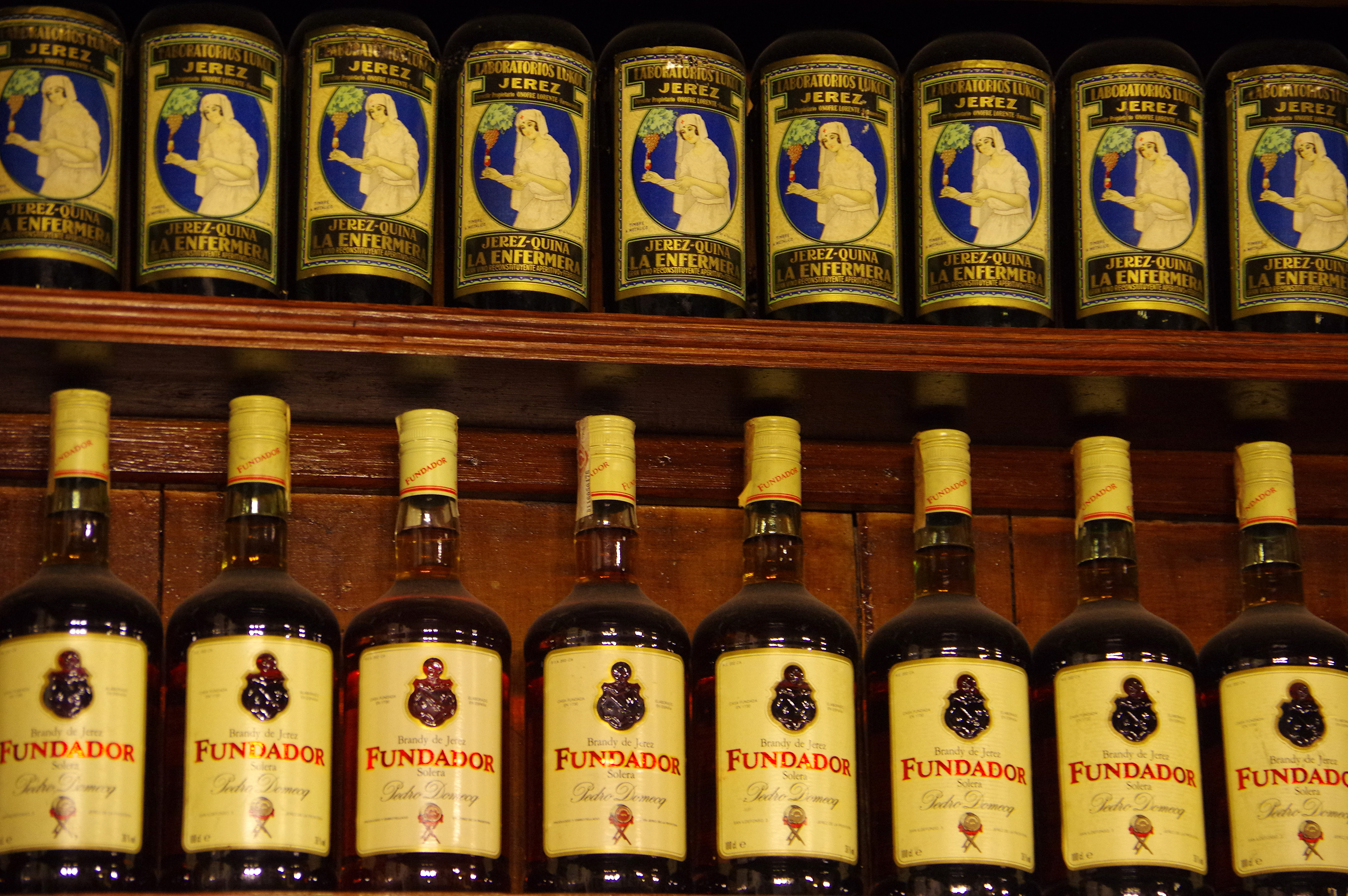 Spain seville sherry bottles tapas bar chris bladon