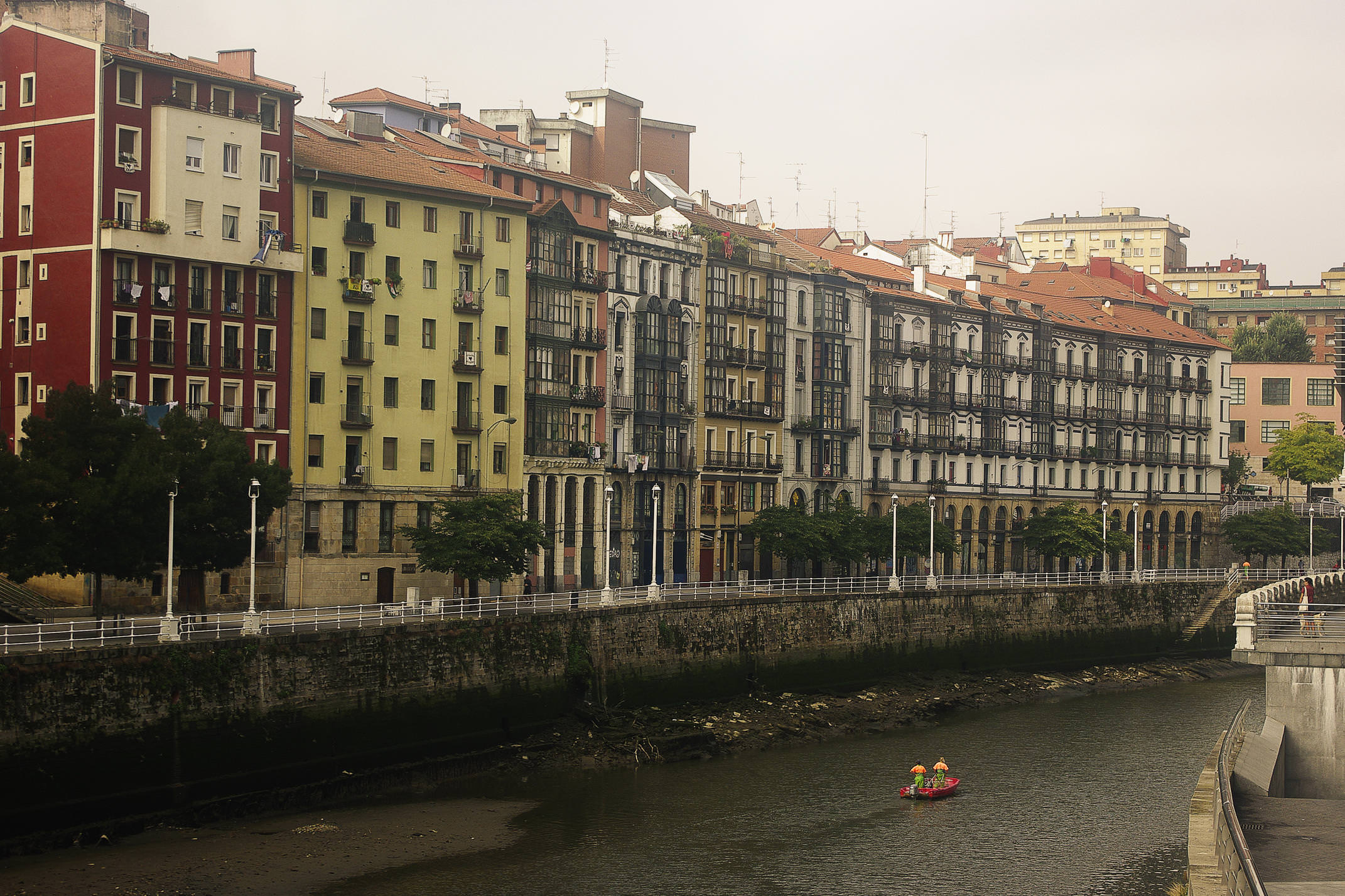Spain bilbao basque river buildings c chris bladon